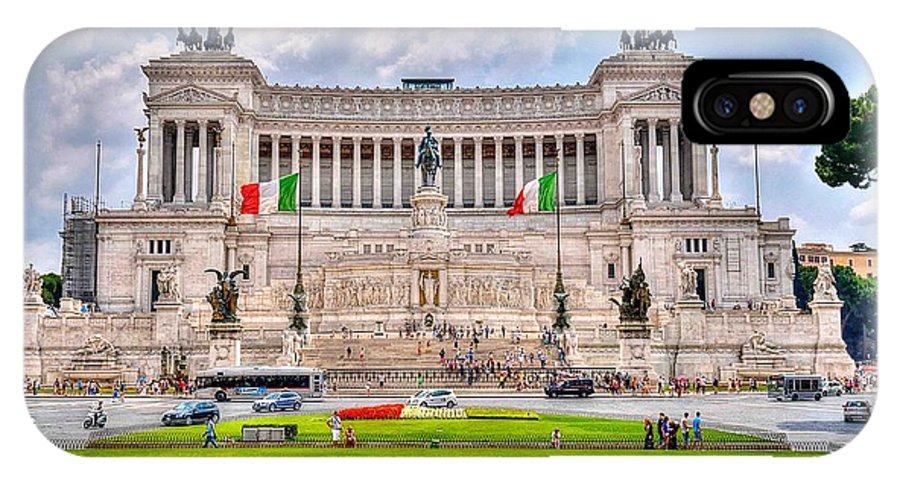 D90 IPhone X Case featuring the photograph Piazza Vanizia by David Delisio