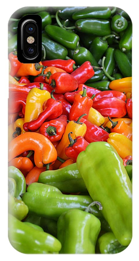 Colorful Peppers IPhone X Case featuring the photograph Pick A Peck Of Peppers by GK Hebert Photography