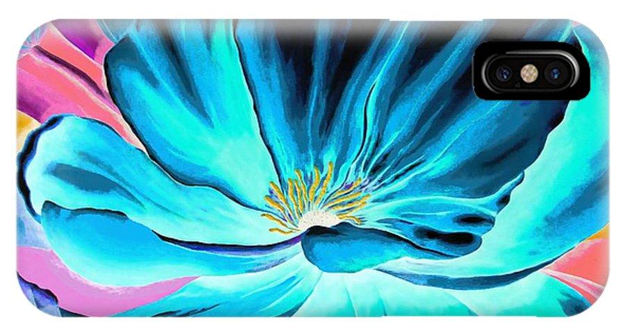 Negative IPhone X Case featuring the digital art Pick Me Poppy Negative by Carol Sabo
