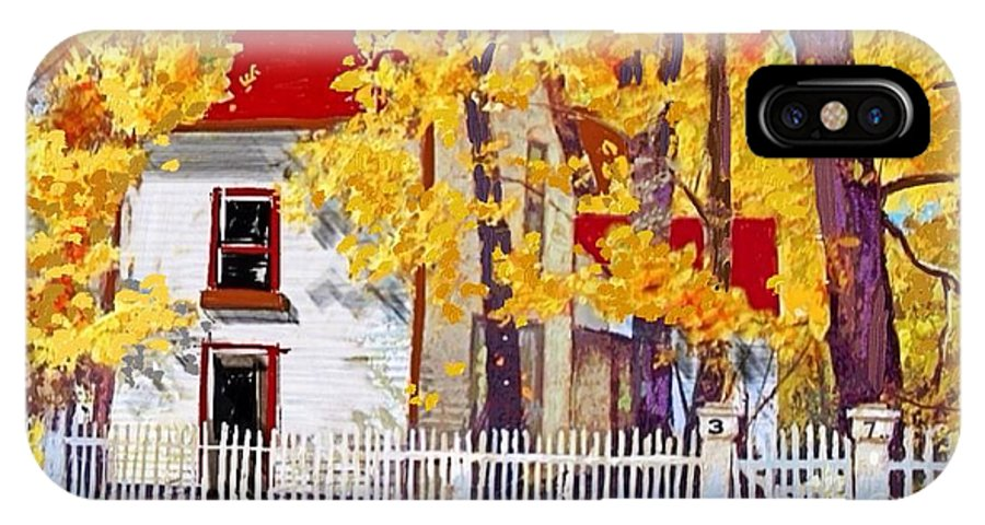 Picket Fence IPhone X Case featuring the painting Picket Fence by Craig Nelson