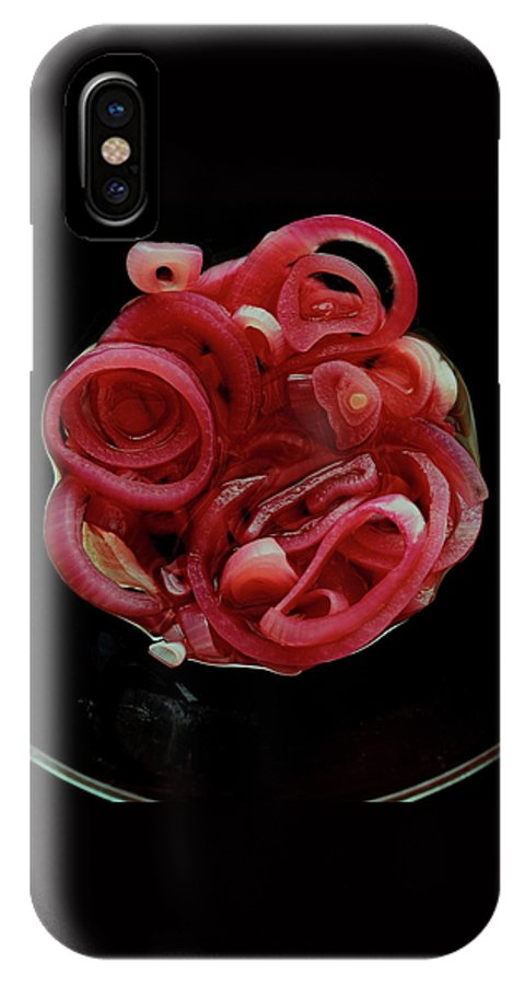 Onion IPhone X Case featuring the photograph Pickled Red Onions by Romulo Yanes