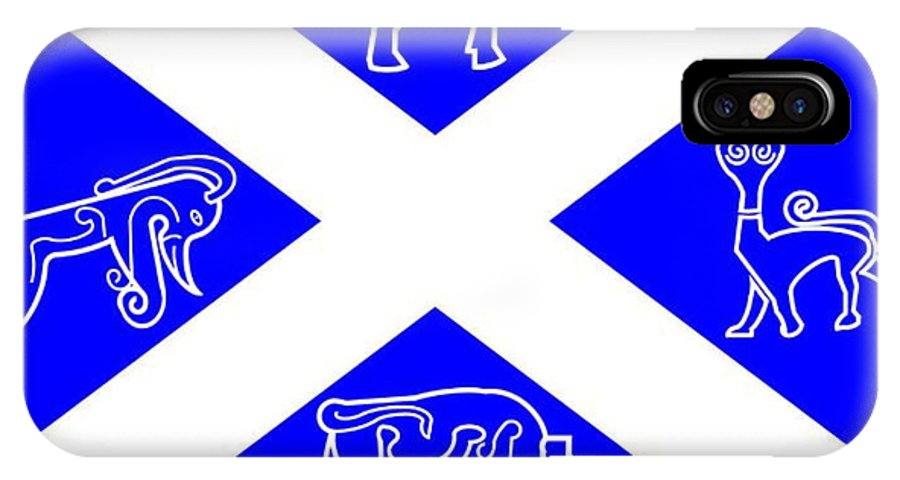 Pictish IPhone X Case featuring the digital art Pictish Scotland Flag by Frederick Holiday