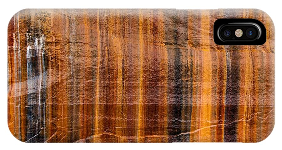 Pictured Rocks Vibrant Layers IPhone X Case featuring the photograph Pictured Rocks Vibrant Layers by Dan Sproul
