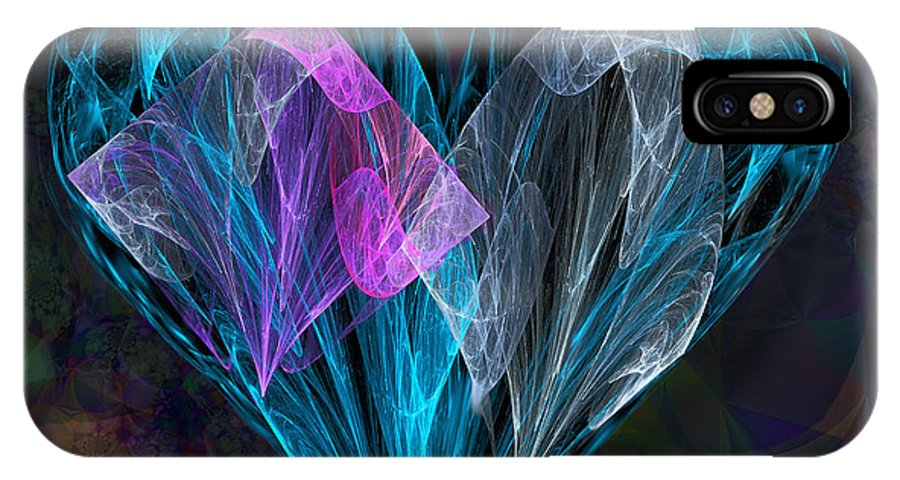 Ursula Freer IPhone X Case featuring the digital art Piece Of My Heart by Ursula Freer