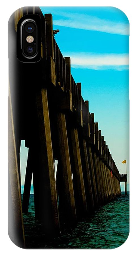 Pier IPhone X Case featuring the photograph Pier Into The Horizon by Jon Cody