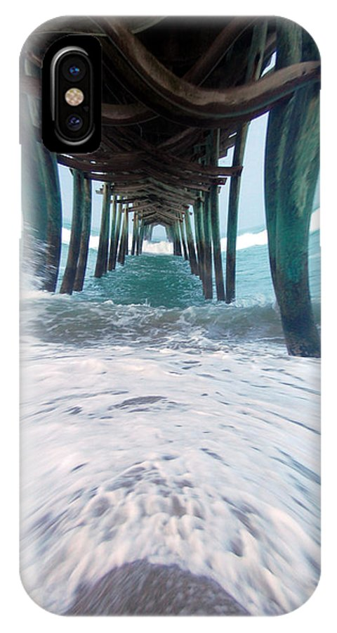 Dam IPhone X Case featuring the photograph Pier by Mim White