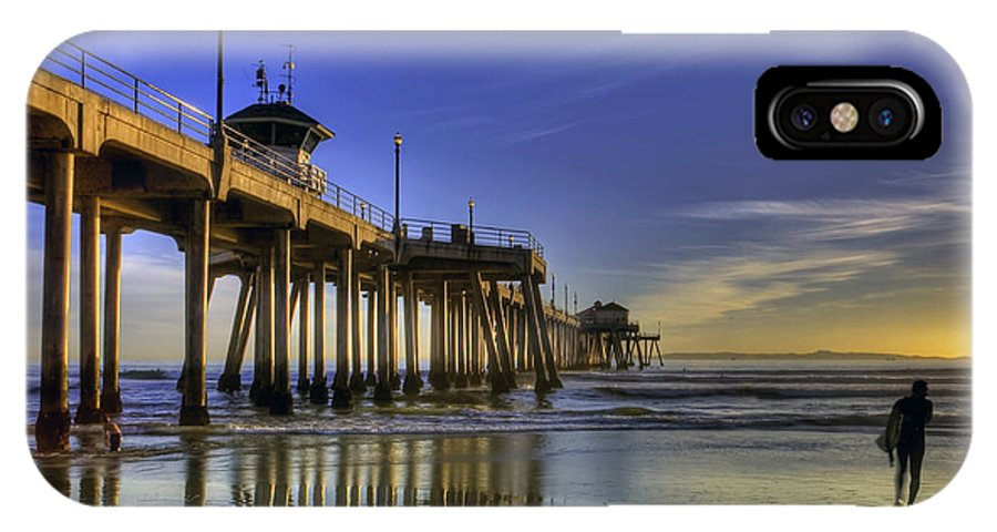 Pier IPhone X Case featuring the photograph Pier Surfer by Doug Dailey