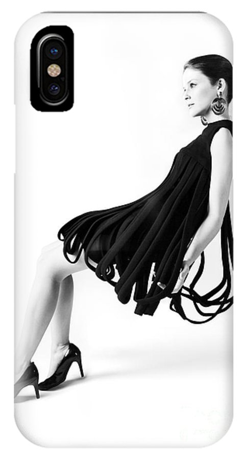 1960s IPhone X Case featuring the photograph Pierre Cardin Car Wash Dress by Diane Diederich