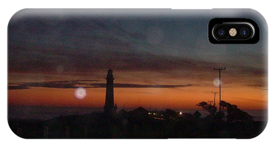 Pigeon Point Light IPhone X Case featuring the photograph Pigeon Point Light At Sunset by Susan Wyman