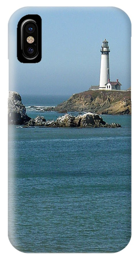 Lighthouse IPhone X / XS Case featuring the photograph Pigeon Point Lighthouse Near Half Moon Bay-san Francisco by Suzanne Gaff