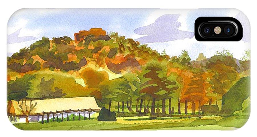 Pilot Knob Mountain IPhone X Case featuring the painting Pilot Knob Mountain by Kip DeVore