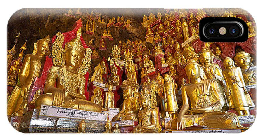 Myanmar IPhone X Case featuring the photograph Pindaya Cave With More Than 8000 Buddha Statues Myanmar by Juergen Ritterbach