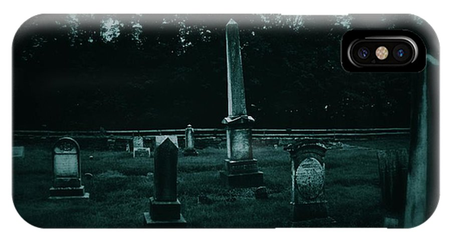 Cemetery IPhone X Case featuring the photograph Pine Hill Cemetery by Chet B Simpson