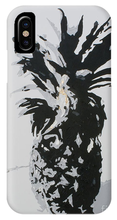 Pineapple IPhone X Case featuring the painting Pineapple by Katharina Filus