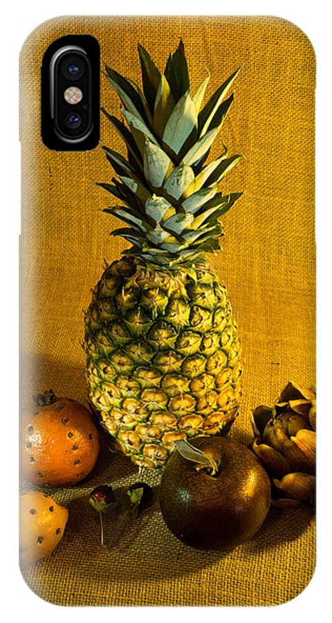 Pineapple IPhone X Case featuring the photograph Pineapple Still Life by Douglas Barnett