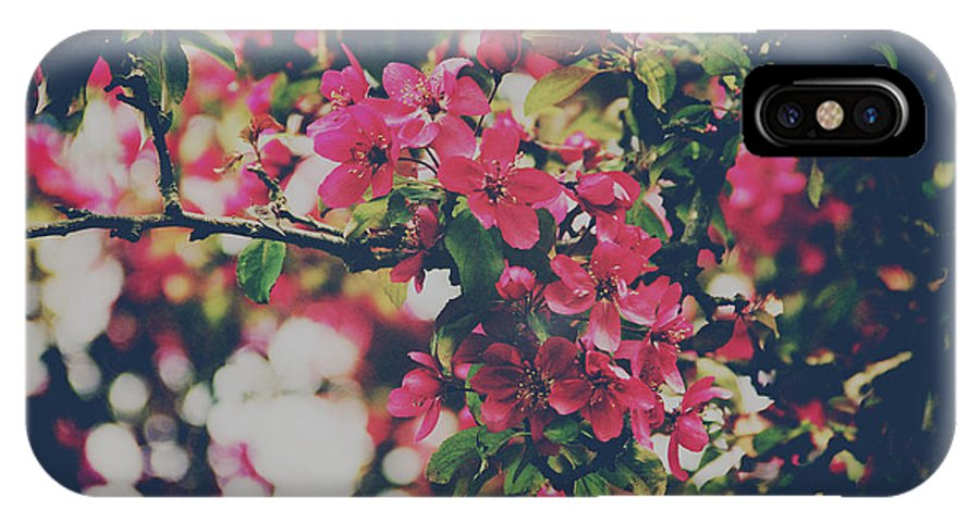 Flower IPhone X Case featuring the photograph Pink Bloom by Omar Morales