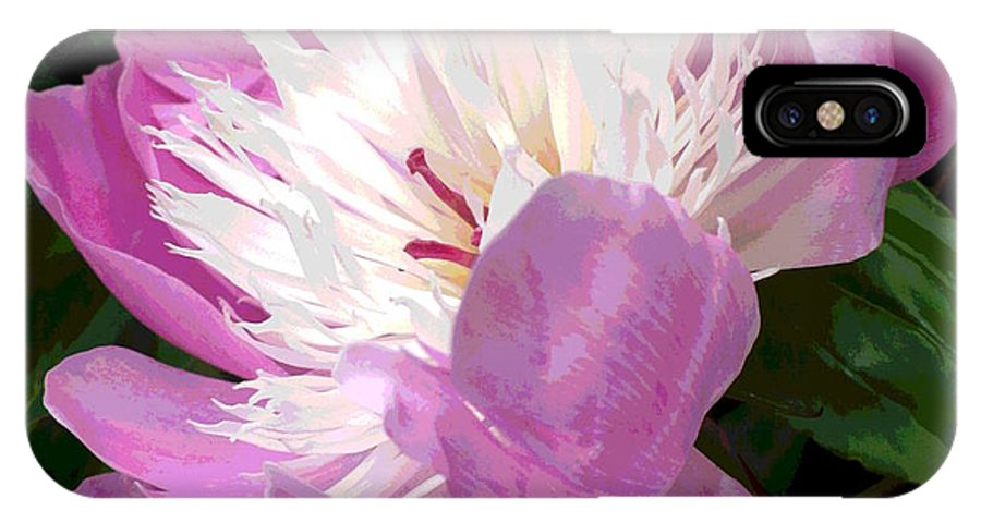 Pink IPhone X Case featuring the photograph Pink Peony Flower by Nicki Bennett