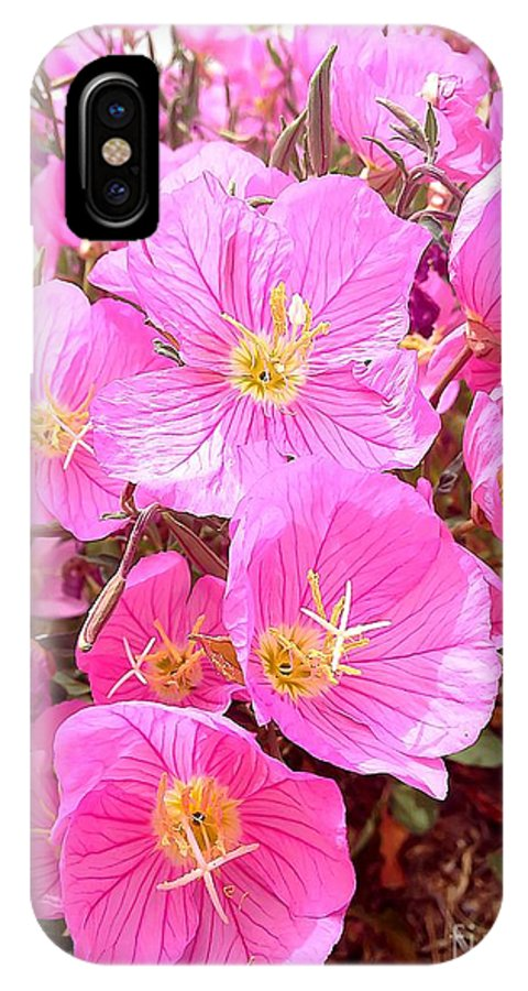 Pink Poppies IPhone X Case featuring the photograph Pink Poppy by Brandon Luke