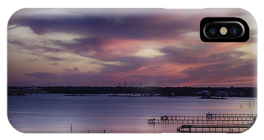 Pensacola Bay IPhone X Case featuring the photograph Pink Sky by Don Cockroft