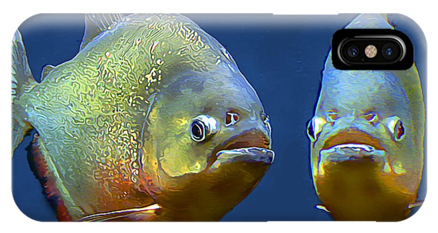 Red Bellied Piranha IPhone X Case featuring the photograph Piranha Ready For Lunch by Wernher Krutein