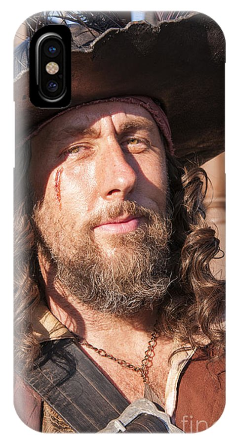 San Diego IPhone X Case featuring the photograph Pirate Captain by Brenda Kean