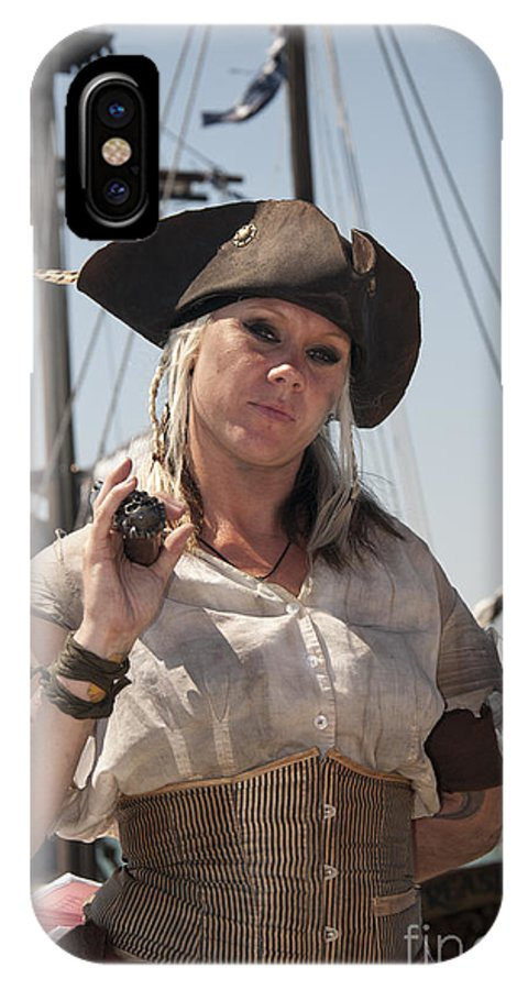 Pirate IPhone X Case featuring the photograph Pirate Queen With A Bad Attitude by Brenda Kean