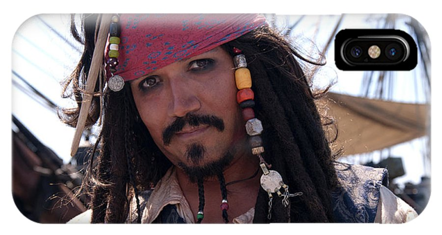 Pirate IPhone X Case featuring the photograph Pirate With Kind Eyes by Brenda Kean