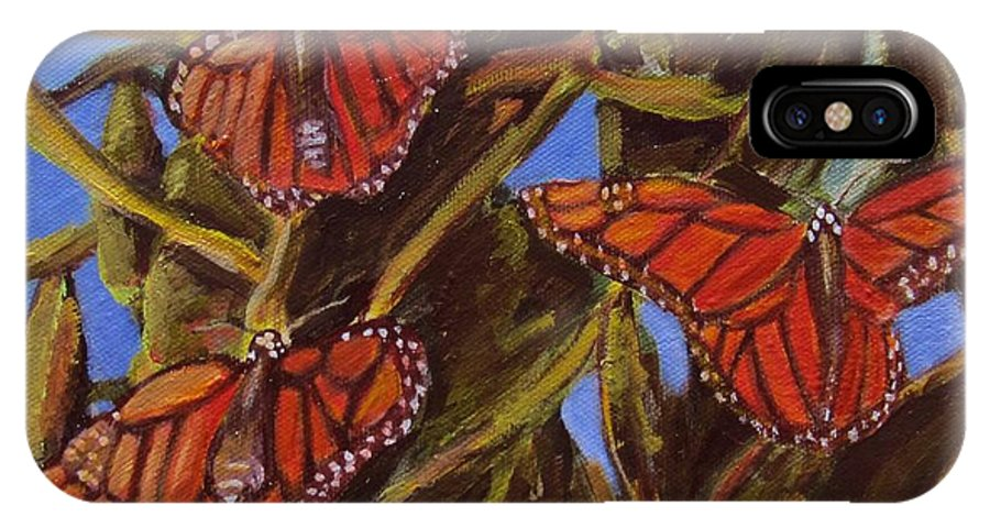 Butterflies IPhone X Case featuring the painting Pismo Monarchs by Laurie Morgan