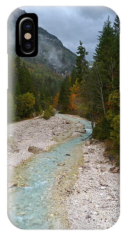 Pisnica River IPhone X Case featuring the photograph Pisnica River - Autumn - Slovenia by Phil Banks