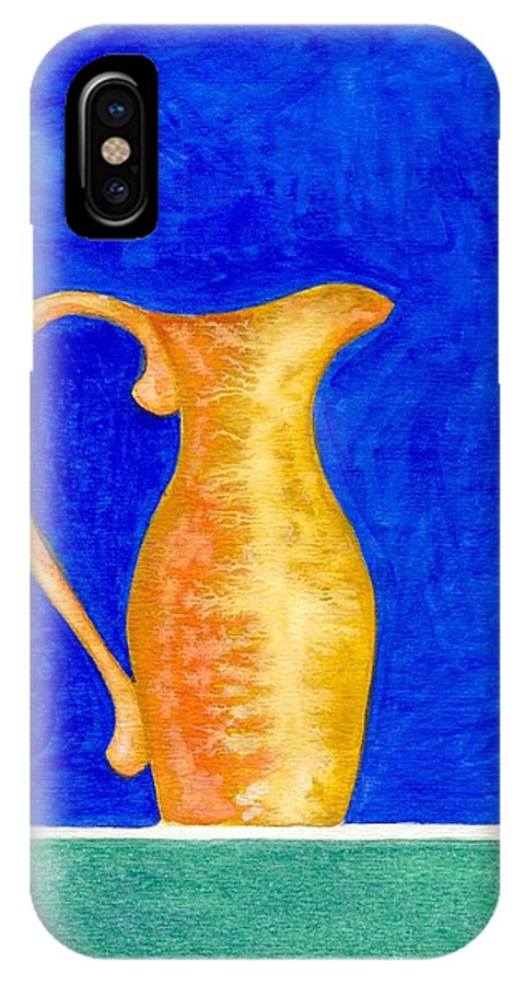 Still Life IPhone X Case featuring the painting Pitcher 2 by Micah Guenther
