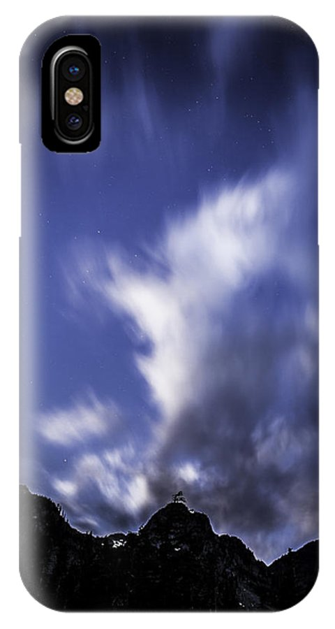 Mountain IPhone X Case featuring the photograph Pl Mountain And Clouds by Bryan Hildebrandt