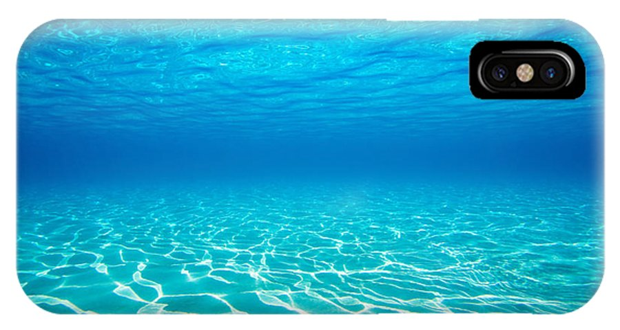 Abstract IPhone X Case featuring the photograph Plain Underwater Shot by M Swiet Productions
