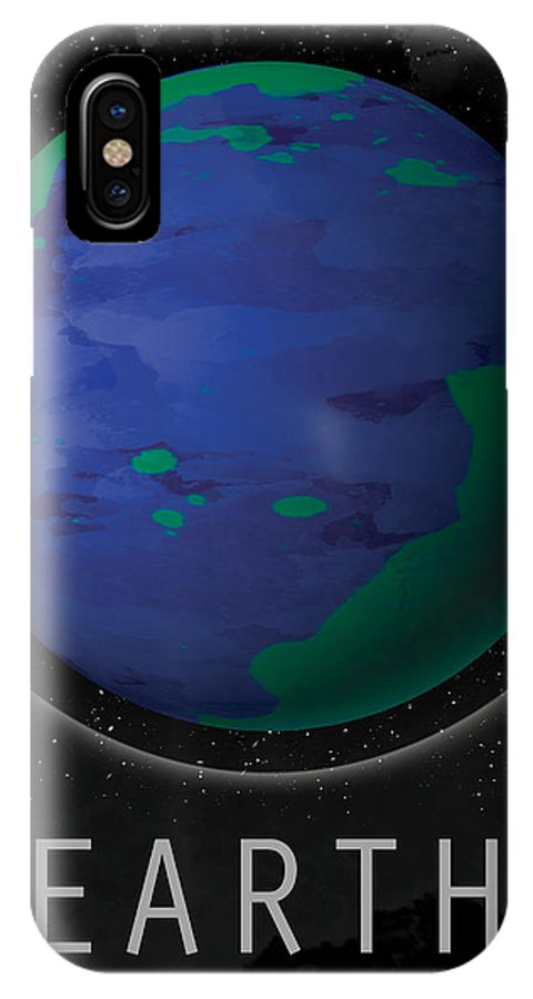 Earth IPhone X Case featuring the digital art Planet Earth by David Cowan