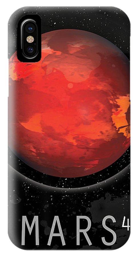 Mars IPhone X Case featuring the digital art Planet Mars by David Cowan
