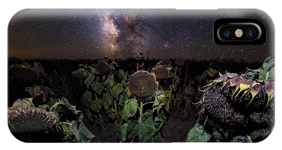 Milky Way IPhone X Case featuring the photograph Plants Vs Milky Way by Aaron J Groen