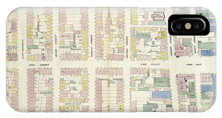Plate 12 map bounded by division street iphone x case for for Background image of div
