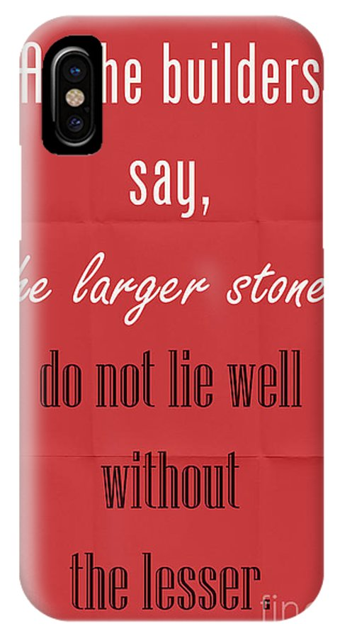 Plato IPhone X Case featuring the digital art Plato Quote 001 by Shawn Hempel