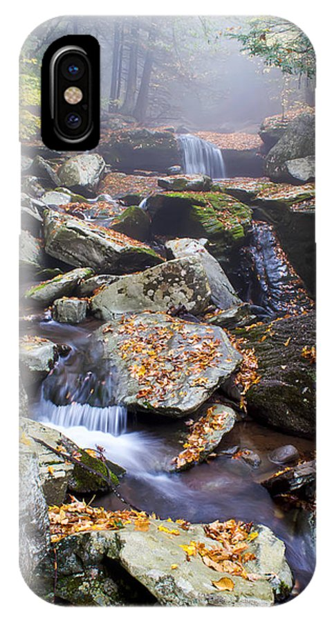 Waterfall IPhone X Case featuring the photograph Platte Clove Cascades by Katherine Hawkins