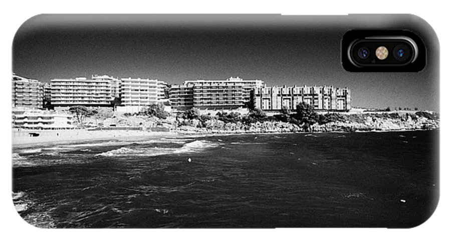 Salou IPhone X Case featuring the photograph Playa De Cappellans And Salou Waterfront Properties On The Costa Dorada Catalonia Spain by Joe Fox
