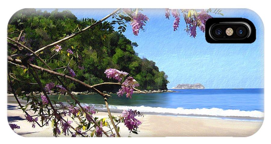 Beach IPhone X Case featuring the photograph Playa Espadillia Sur Manuel Antonio National Park Costa Rica by Kurt Van Wagner