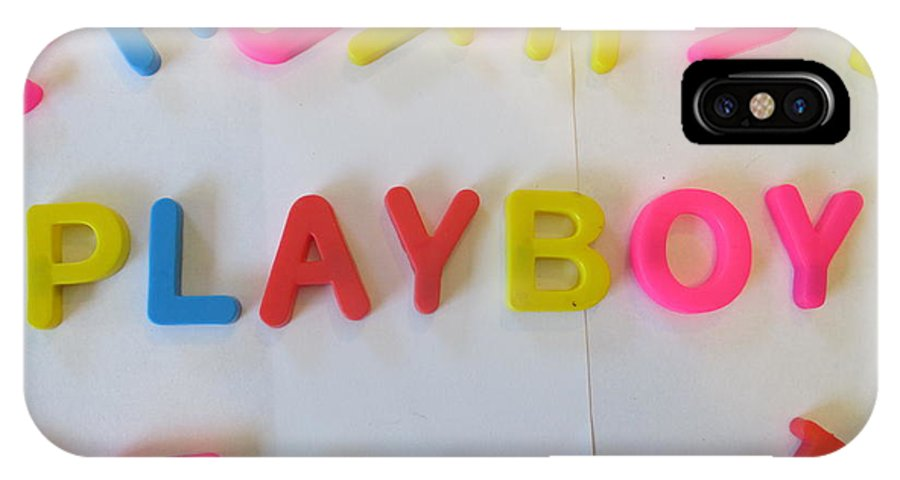 Playboy IPhone X / XS Case featuring the photograph Playboy - Magnetic Letters by David Lovins