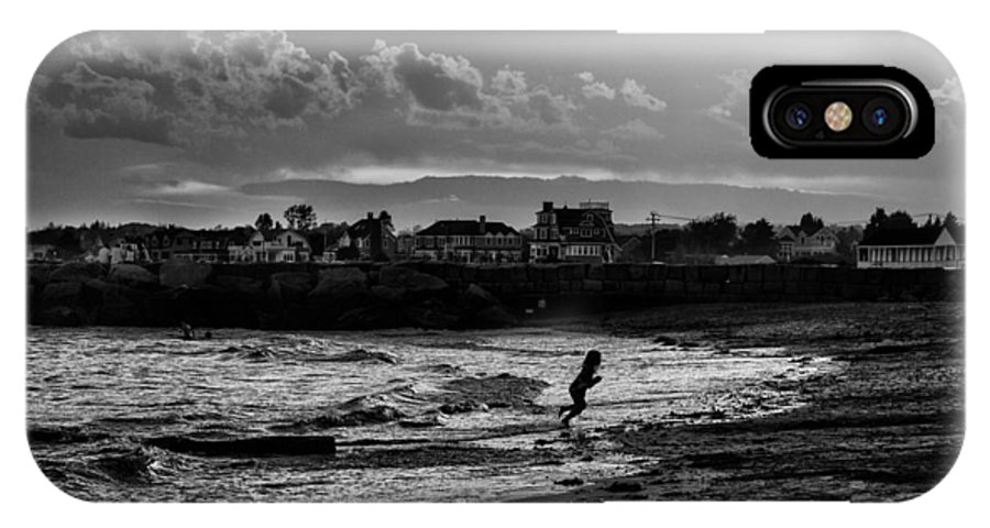 Kennebunkport IPhone X Case featuring the photograph Playing On The Beach by John Hoey