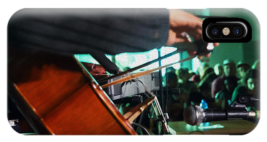 Cello IPhone X Case featuring the photograph Playing The Cello by Ilan Rosen