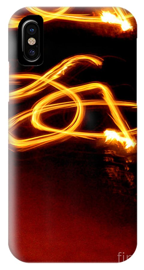 Fire IPhone X Case featuring the photograph Playing With Fire 10 by Cheryl McClure