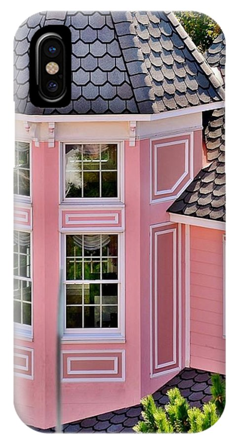 Hotel IPhone X Case featuring the photograph Beautiful Pink Turret - Boardwalk Plaza Hotel Annex - Rehoboth Beach Delaware by Kim Bemis