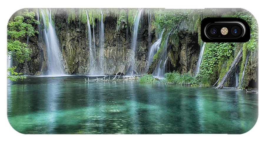 Croatia IPhone X Case featuring the photograph Plitvice Falls by Timothy Hacker