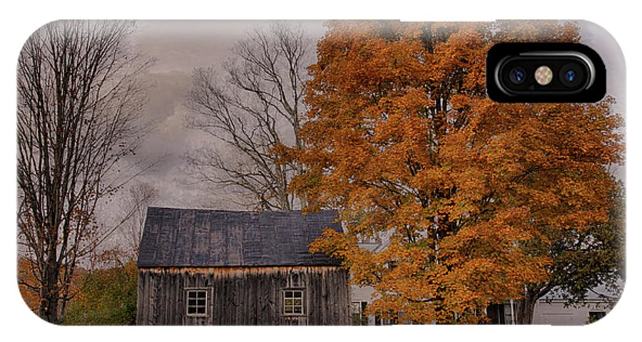 Fall IPhone X Case featuring the photograph Plymouth Notch Barn In The Fall by Martin Belan