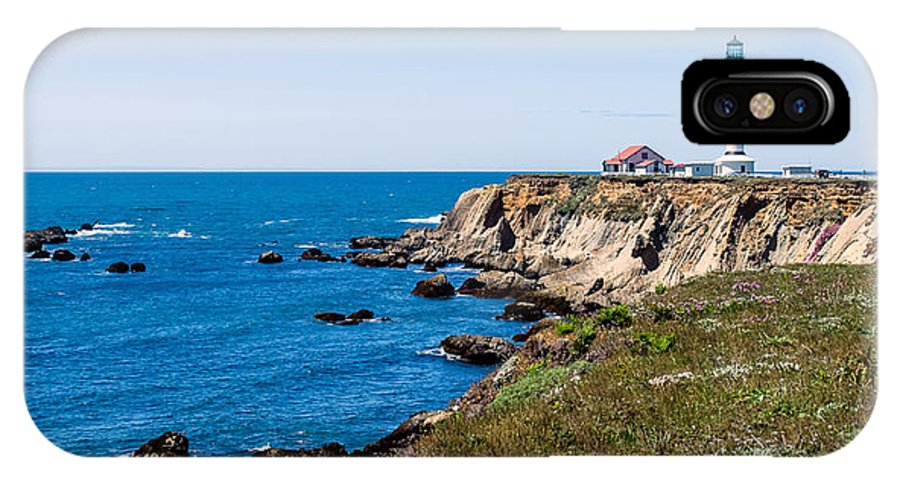 Lighthouse IPhone X Case featuring the photograph Point Arena Lighthouse by Mike Ronnebeck