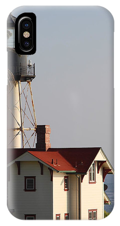 Landscape IPhone X Case featuring the photograph Point Loma California Lighthouse by Mark Steven Burhart
