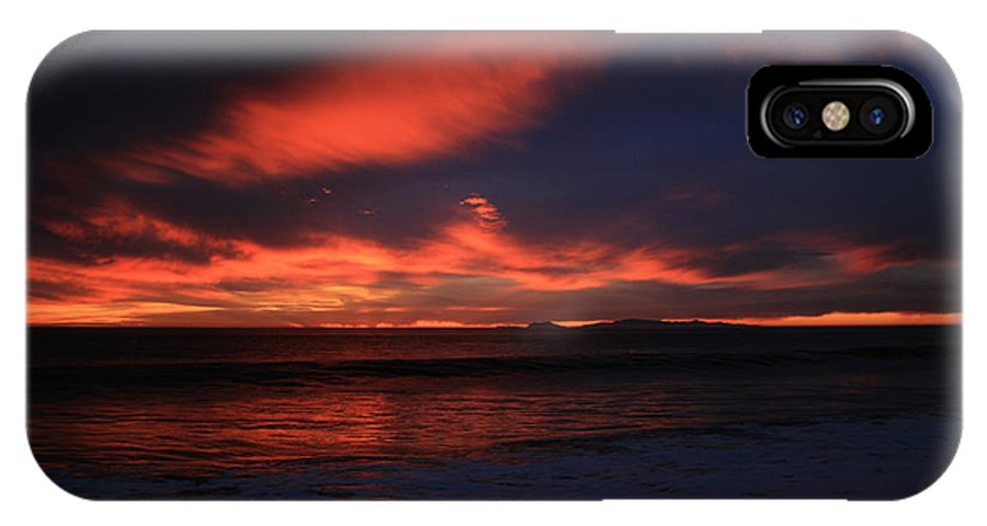 Wave IPhone X / XS Case featuring the photograph Point Mugu 1-9-10 Just After Sunset by Ian Donley